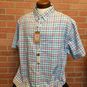 Cremieux Mens Oxford Shirt 2XB Plaid (4N35-36)